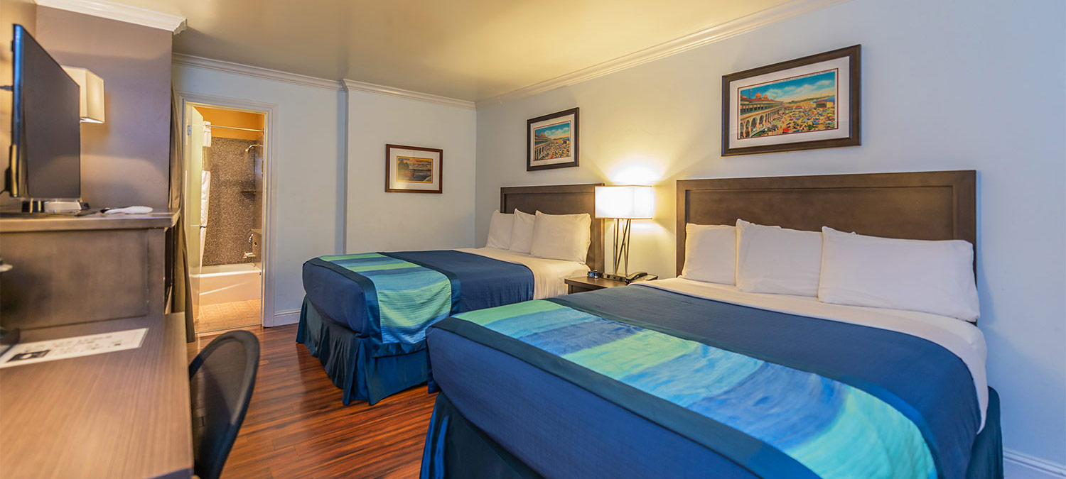 Enjoy spacious and comfortable guest rooms at the Continental Inn, Santa Cruz